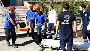 Rize'de lise öğrencileriyle deprem tatbikatı yapıldı