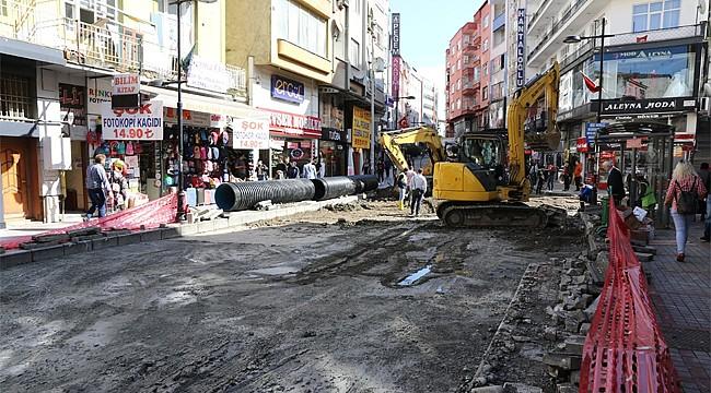 Rize'de yağmur suyu şebeke hattı genişletildi