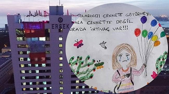 Esila'nın resmi Siyami Ersek Hastanesine asıldı