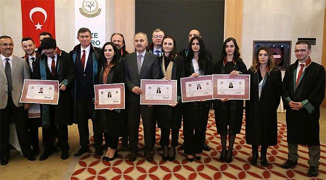 Rize'de genç avukatlar mesleğe adımlarını attı
