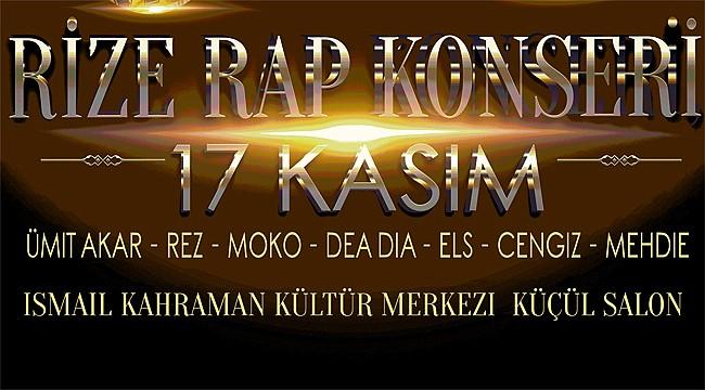 Rize'de Rap Konseri düzenleniyor