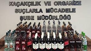 Rize'de eş zamanlı alkol operasyonu