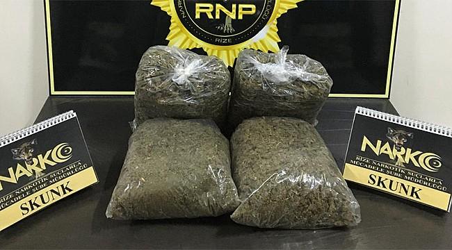 Rize'de uyuşturucu taciri tutuklandı