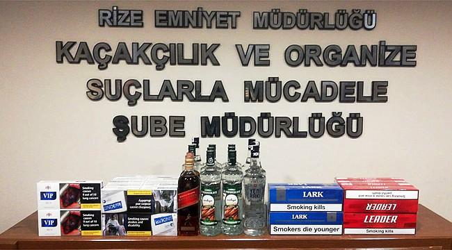 Rize Emniyeti sigara ve alkol kaçakçılarına geçit vermiyor
