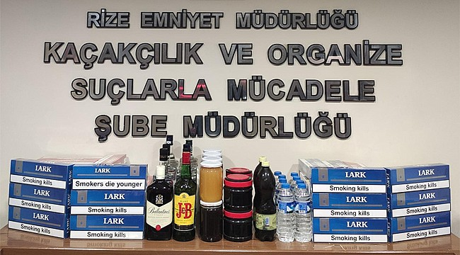 Rize'de kaçak sigara ve içkinin yanında bal da yakalandı