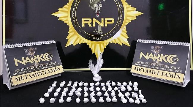 Rize'de uyuşturucuya geçit yok: 2 kişi tutuklandı
