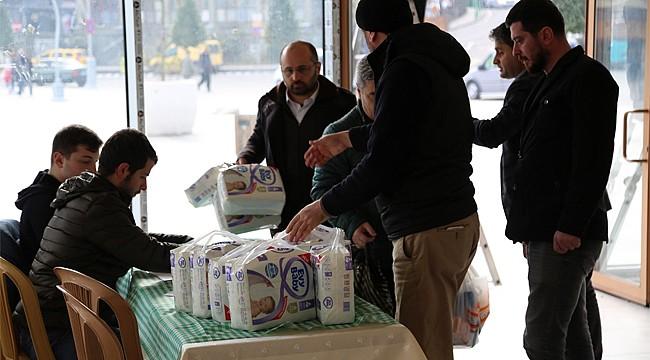 Rize'den depremzedelere yardım eli