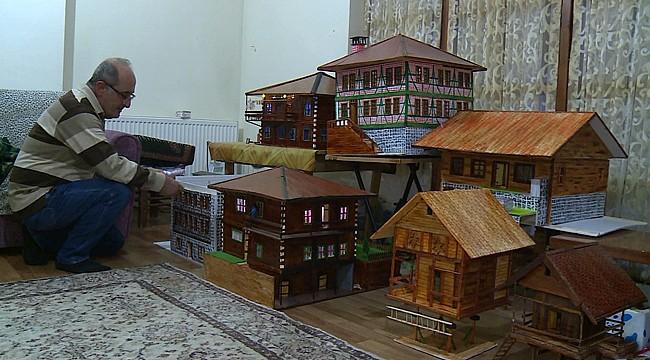 Rize mimarisini minyatür evlerde yaşatıyor