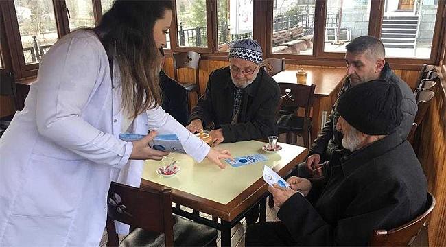 Rize'de sigaranın zararlarını anlatmak için sokağa çıktılar