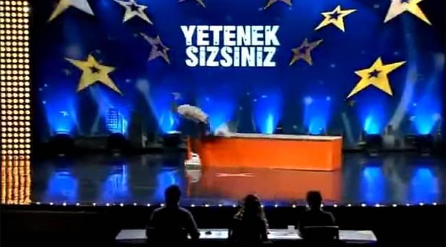 Yetenek Sizsiniz'de şok kaza / Video