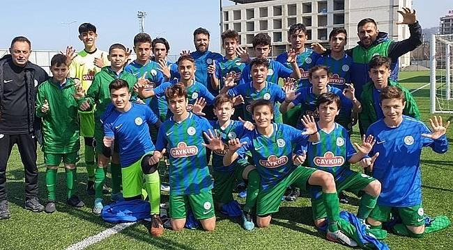 Çaykur Rizespor U14'ten farklı galibiyet: 6-0