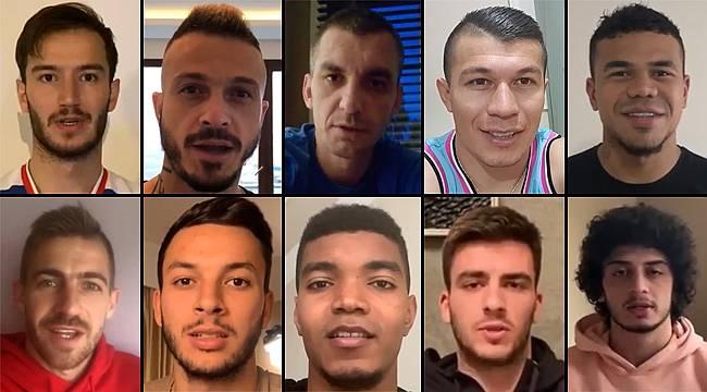 Çaykur Rizesporlu futbolculardan 'Evde Kal' çağrısı