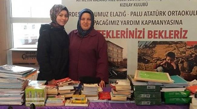 Rize Lisesi öğrencilerinden Elazığ'daki kardeş okula yardım