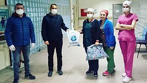 Pazar'da sağlık çalışanlarına ev yapımı destek