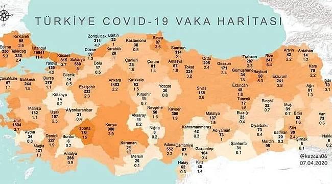 Rize'de toplam vaka sayısı 247 oldu iddiası