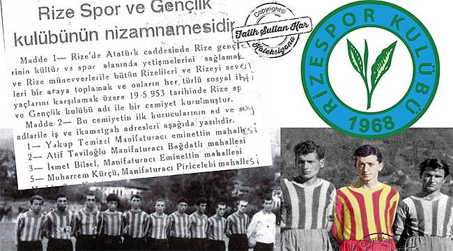 Rizespor'un kuruluş tarihi değiştirilemez!