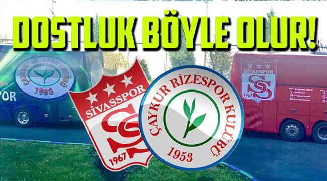 Rizespor'un yıl dönümünü kutlayan tek kulüp Sivasspor oldu