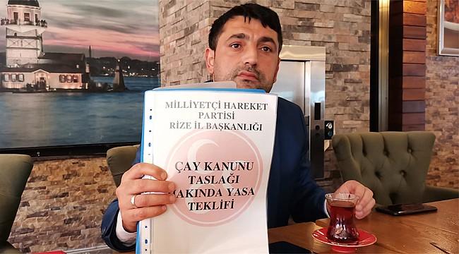 MHP'li Alkan, Çay Kanunu için kolları sıvadı