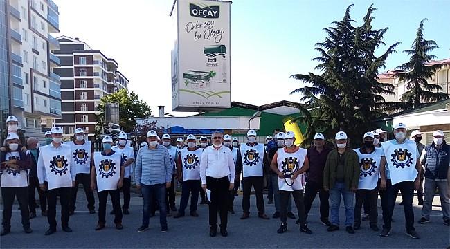 Öz Gıda İş Sendikası, Ofçay (Jacobs) önünde eylem yaptı
