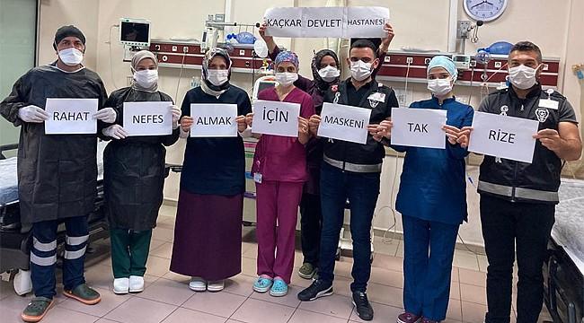 Rize'de Sağlık Çalışanları uyardı: Maskeni Tak Rize