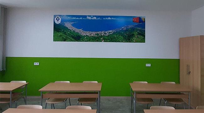 Bosna Hersek'te kurulan Türkçe sınıfı faaliyete geçti