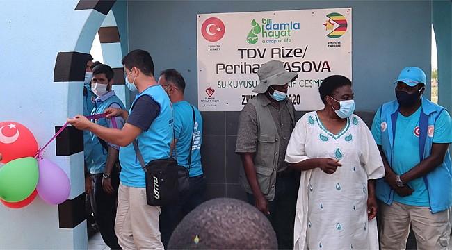 Zimbabve'de Rize adına su kuyusu açıldı
