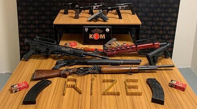 Rize'de 14 adrese operasyon: 7 kişi yakalandı