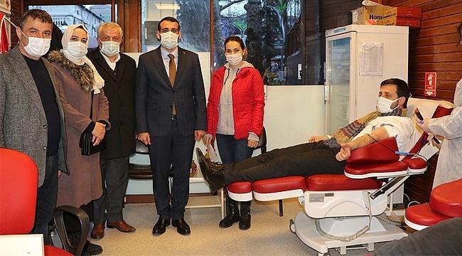 AK Parti Rize Merkez İlçe'den Kan Bağışı Seferberliği