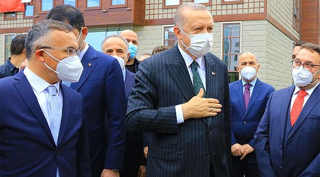 Cumhurbaşkanı Erdoğan'ın Rize'deki ilk günü yoğun geçti