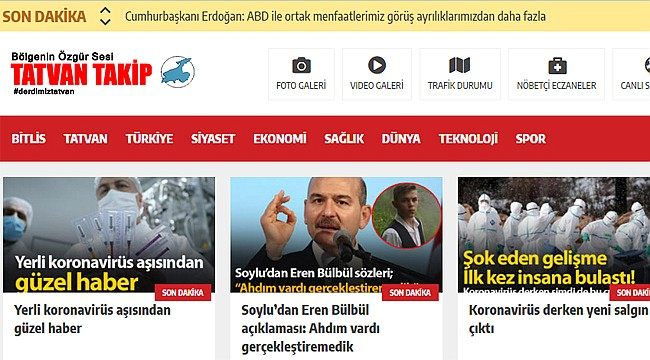 Tatvan'da Yeni Haber Sitesi TatvanTakip.com Açıldı