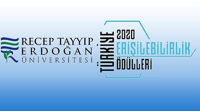 """RTEÜ'ye """"Engelsiz Üniversite"""" ödülü"""