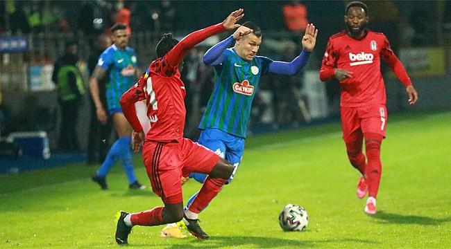Çaykur Rizespor Beşiktaş'tan da puan alamadı