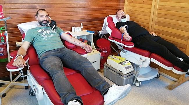 Rize Masterler ve Veteranlar'dan örnek Kan Bağışı etkinliği