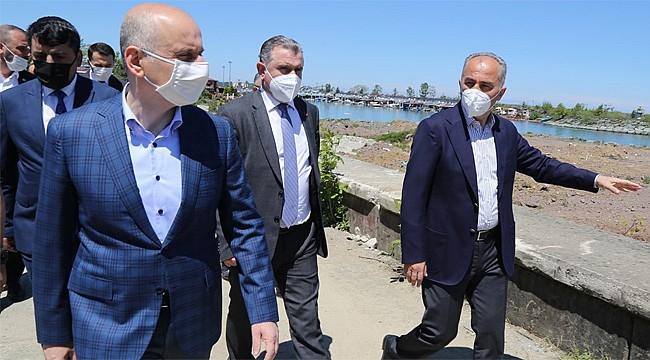 Ulaştırma ve Altyapı Bakanı Karaismailoğlu Rize'de