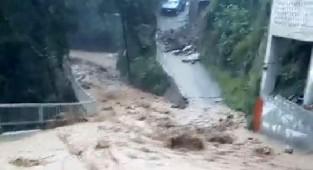 Rize'de sağanak yağış yüzünden dereler taştı, evleri su bastı