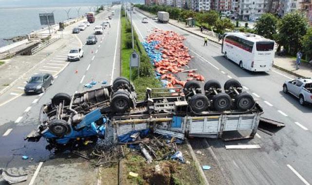 Araklı'da feci kaza: 1 ölü, 3 yaralı