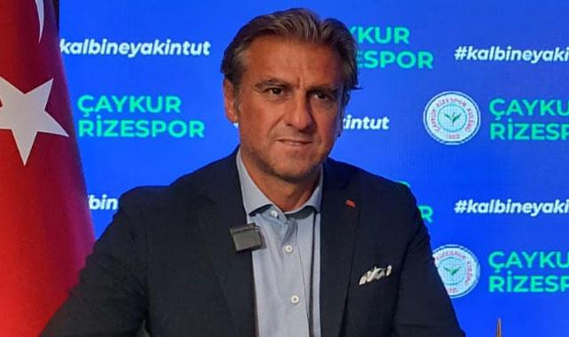 Hamzaoğlu: Rizespor'u güzel günlere ulaştırmayı hedefliyoruz