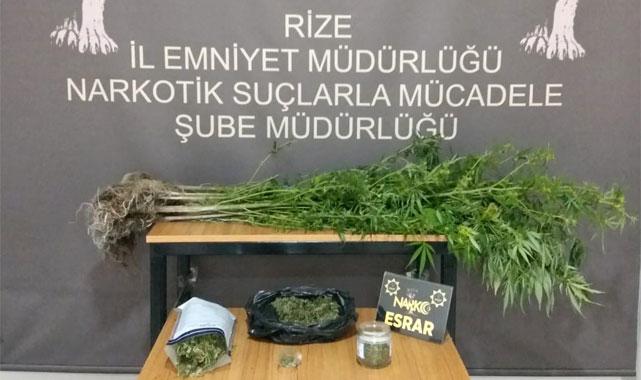Rize'de uyuşturucu imal eden kişi yakalandı