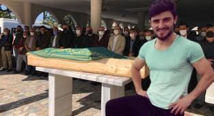 Çay fabrikasındaki patlamada ölen genç Sinan toprağa verildi