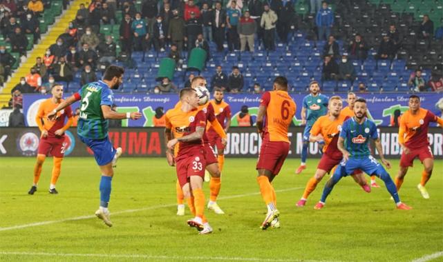 Galatasaray'a Rize'de son saniyede hakem kıyağı
