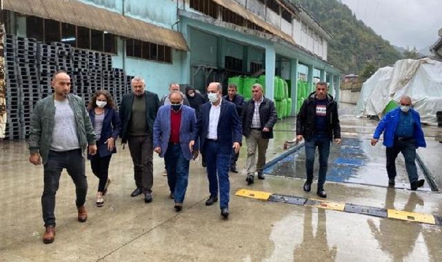 Öz Gıda-İş Genel Başkan Yardımcısı Çukutli Rize'de