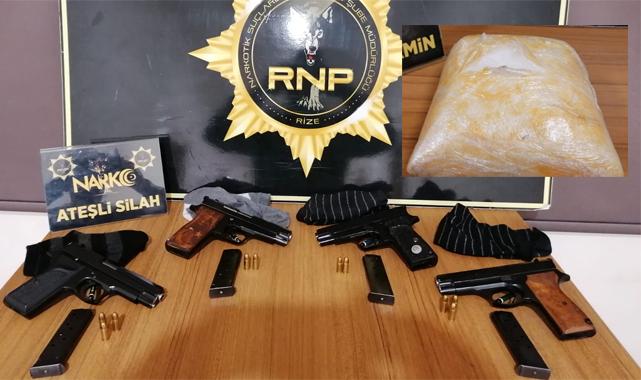 Rize'de durdurulan araçlarda suç üstü: 1 kişi tutuklandı