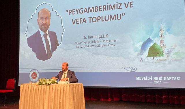 Rize'de Peygamberimiz ve Vefa Toplumu konferansı