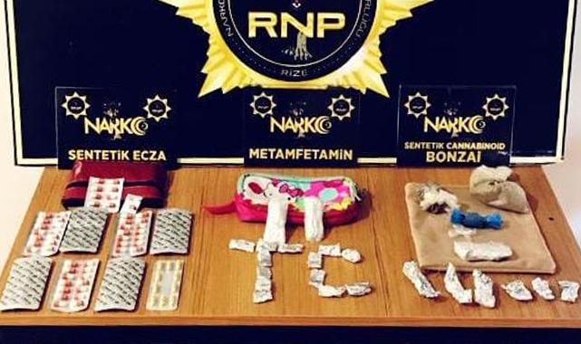 Rize'de uyuşturucu satıcısı 1 kişi tutuklandı