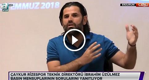 İbrahim Üzülmez'den Erzurum kampında açıklama