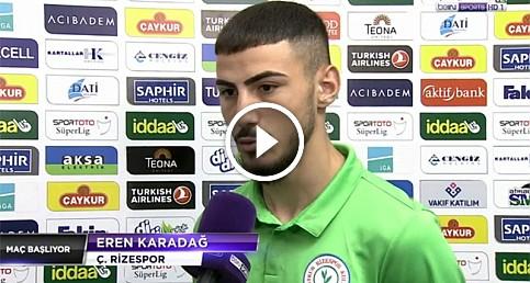 Çaykur Rizespor'un genç yeteneği Eren Karadağ